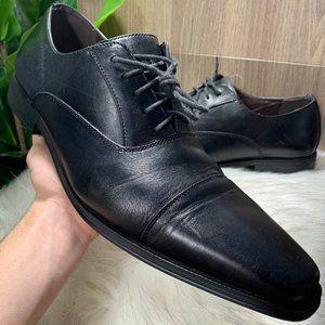 (15) 14th & Union Brandon Black Leather Dress Shoe